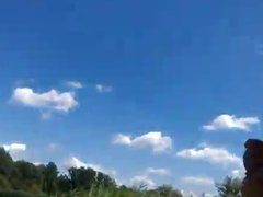 Dickflash - Jerking for a topless sunbather .360p