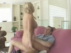 Blond pig tailed girl really goes at it !!!