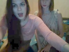Two Girls kissing on Webcam
