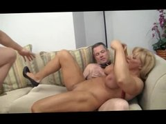 KC Plays With Asian Cock & Her Slave Too
