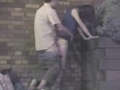 couple get caught fucking outside -spycam