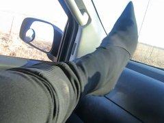 donald pliner Boots, metal heels