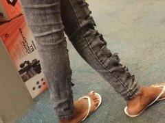 ebony feet candid 2