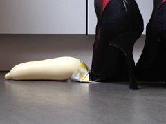heels nylons foot play