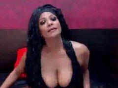 Ebony Classy Babe Shows big tits