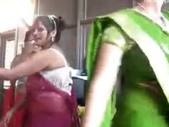 Nepali Aunties bouncing boobs and dancing