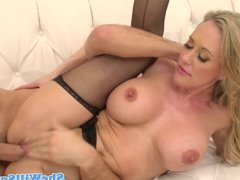 Busty squirting milf closeup in her stockings