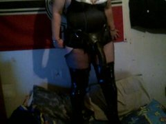 slave slut with her big black strapon cock