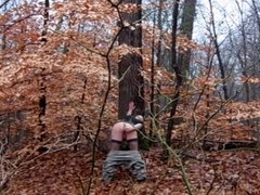 Anal dildo and Stroking, in Public (Woods) Pt.1