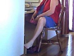 Caught masturbating at computer watching porn