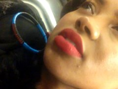red lipstick black girl