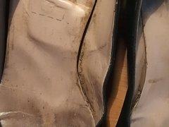 GF Ruined shoe with cum again