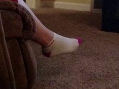 Girlfriend foot wiggling