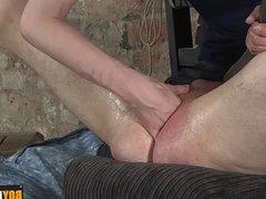 Ashton making use of the boys tight hole