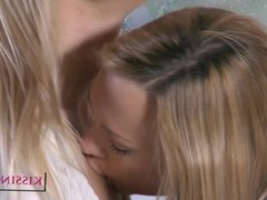 Kissing HD Perfect young blonde babes kiss slow and deep