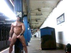 flashing at NYC subway station