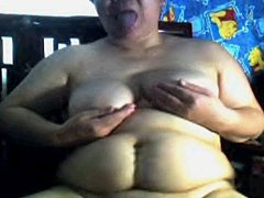 Chubby Mature Chinese on Webcam