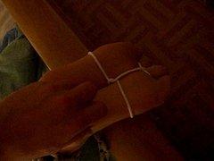 tickling nylonned feet