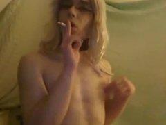 Smoking Transvestite Sissy Carolina