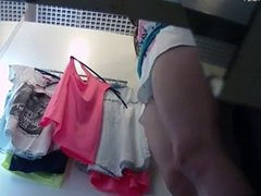 Amateur Beauty ass in dressing room