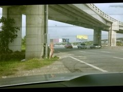 The Exhibtionist Naked and Jerk off on motorway