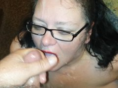 Real Homemade:Cum Slut Wife Smokey Facials