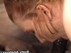 Busty amateur Fiona sucking and fucking black cock