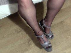 Teaching sissy to smoke - Foot Nylon Stockings Fetish