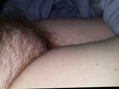 uncovering, playing & chugging on her dreaming hairy pussy
