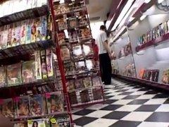 Fucked sexy ebony in the porn shop