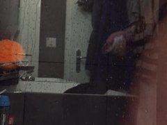 Spycam douche masturbation