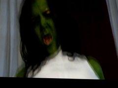 Green woman sex