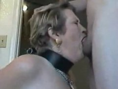 She Deep Throats a Large Cock