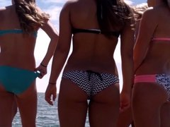 Candid Beach Bikini Ass Butt West Michigan Booty A+ HD
