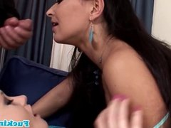 Cum swapping euro sluts love deepthroating