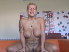 Tattooed milf is hungry for hard cock