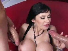 Busty milf Eva Karera double facialized