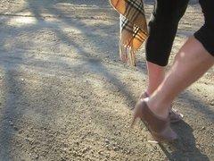 vince cameuto peep toe shoes