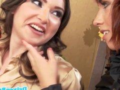 Glamcore euro babe Simony Diamond in kinky lesbian threeway
