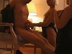 Mandy M istery - 3some anal handjob