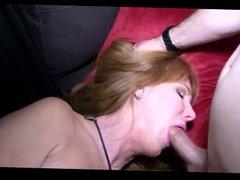 Horny Mom Gets Throat Fucked