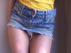japan teen ultra micro bikini slip teasing show