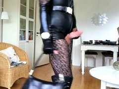 Sissy Ready in Sexy Leather 1