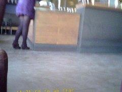 beautiful legs at coffee shop