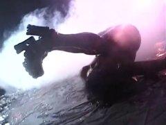 Goth asian dancer