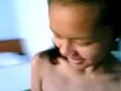 Nude Malay girl smokes