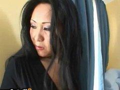 Asian mom seduces hot gardener