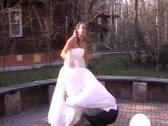 Bride skirts took off