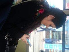 spy sexy teens in bus romanian
