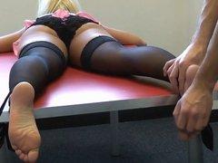 Nylon Slut Tickle Torture